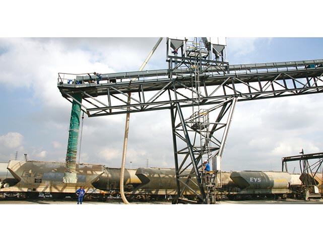 descargadores telescópicos para barcos