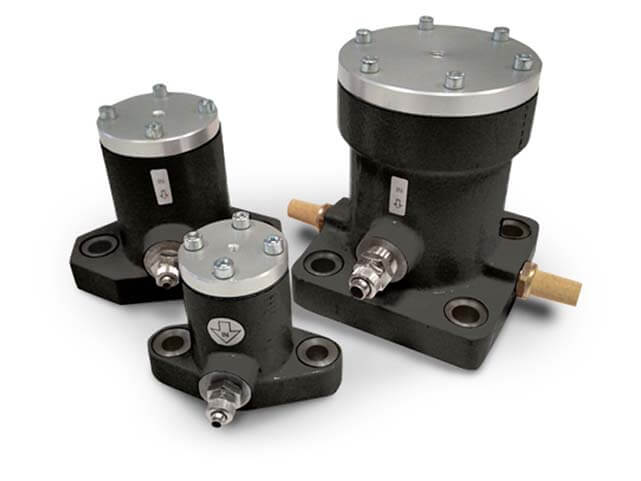 Vibradores industriales Neumáticos Externos de impacto a pistón serie P, de construcción robusta
